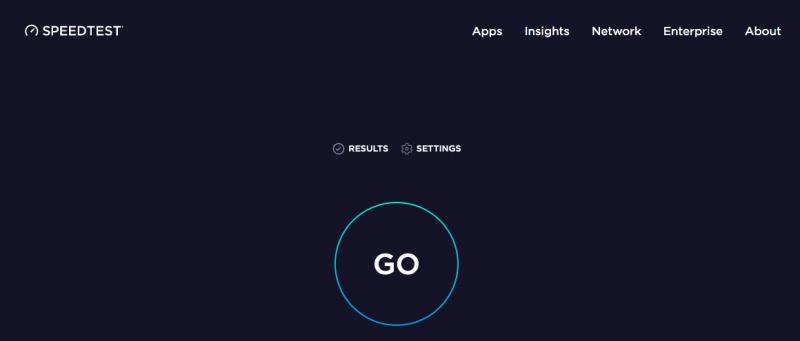 YouTubeを観るための通信速度を測るBeta Speed Testの測定画面