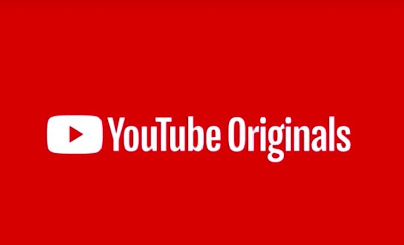 YouTube Originalsのトップ画面