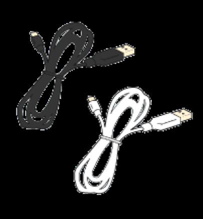 USBケーブル(黒または白)