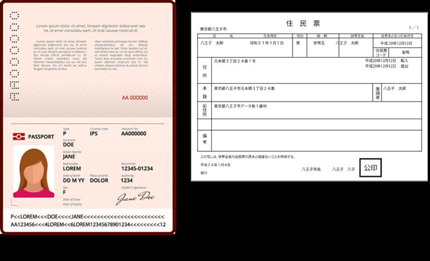 パスポート+補助書類